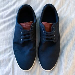 Zara men's navy canvas oxfords size 45
